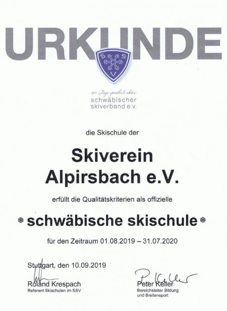 SSV_Skischule_Alpirsbach_Urkunde_2019